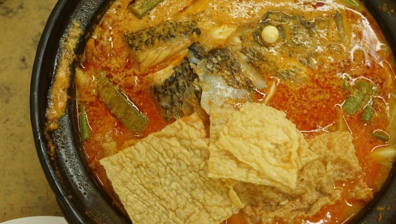 Kam Long Curry Fish Head Overhead Shot